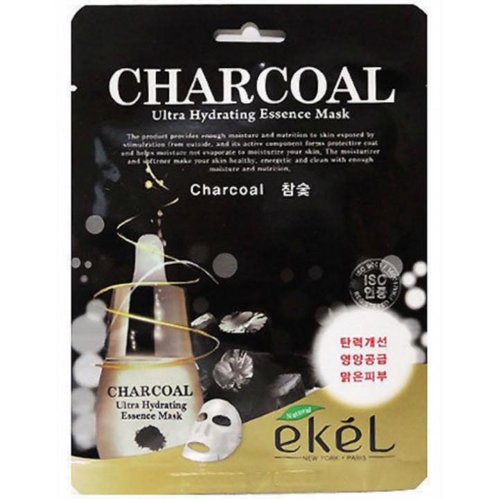 Тканевая маска с экстрактом угля от Ekel