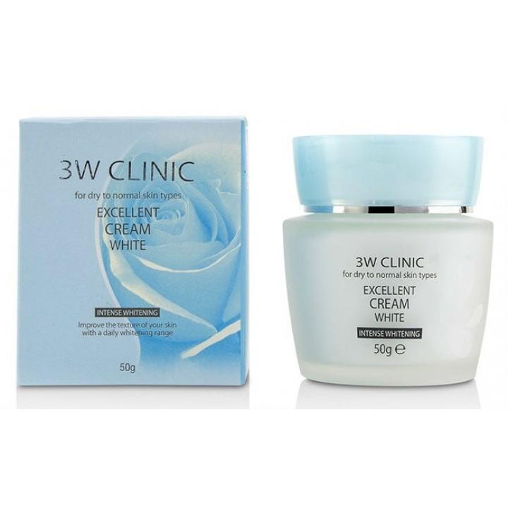 Отбеливающий крем для сухой кожи от 3W Clinic