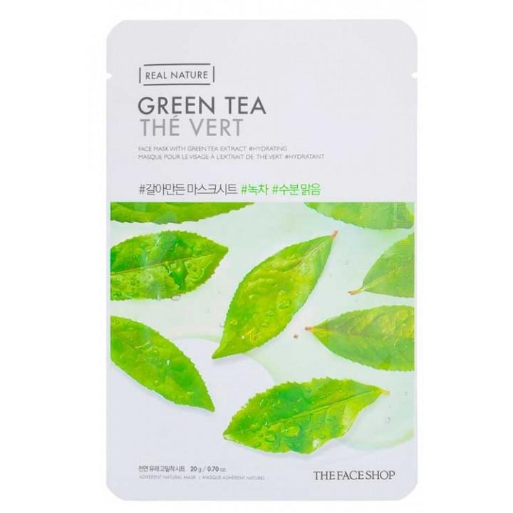 Тканевая маска с экстрактом зеленого чая от TheFaceShop