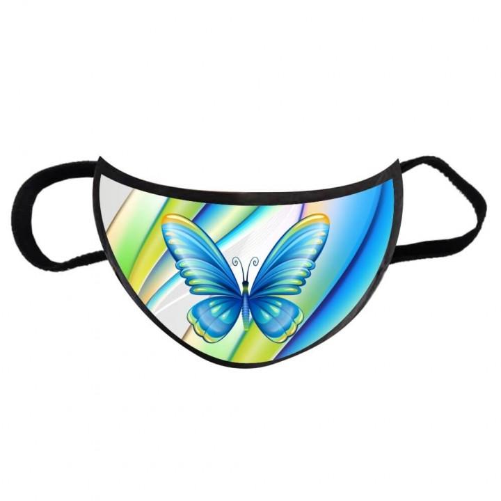 Маска многоразовая дизайнерская Бабочки взрослая большая