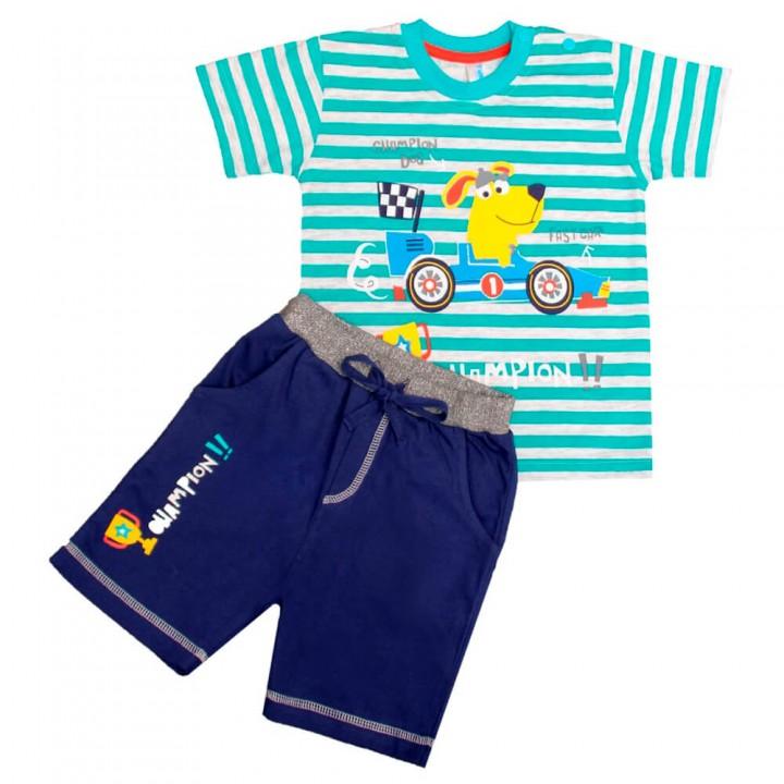 Комплект для мальчиков, футболка и шорты (арт.1001864)