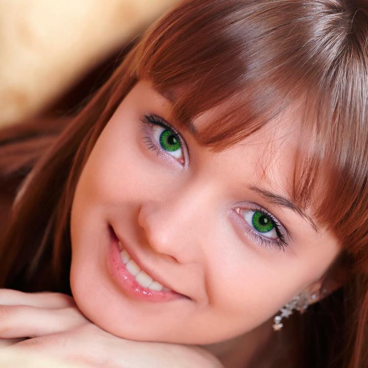 Цветные линзы с диоптриями K 4001 Green