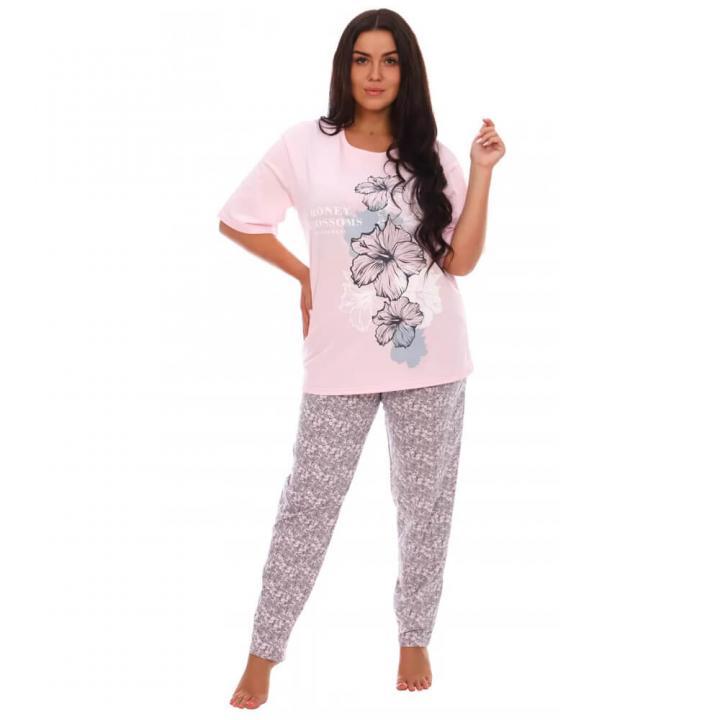 Женская пижама Гибискус розовый