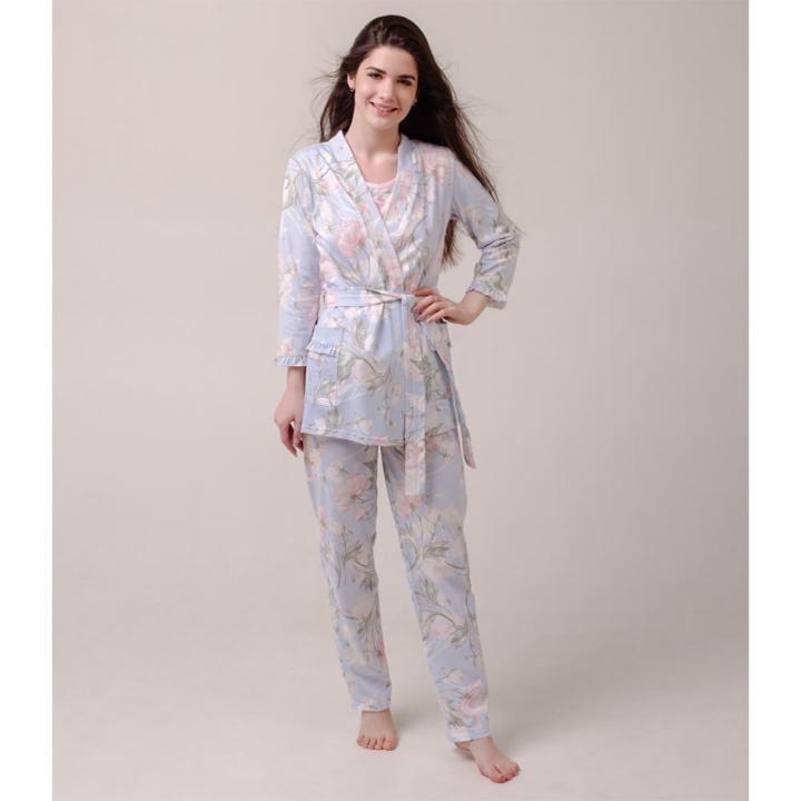 Женский костюм-халат Кувшинка голубой