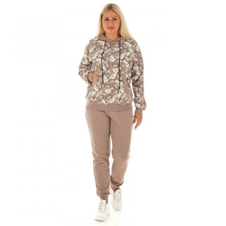 Женский спортивный костюм Мальвина бежевый