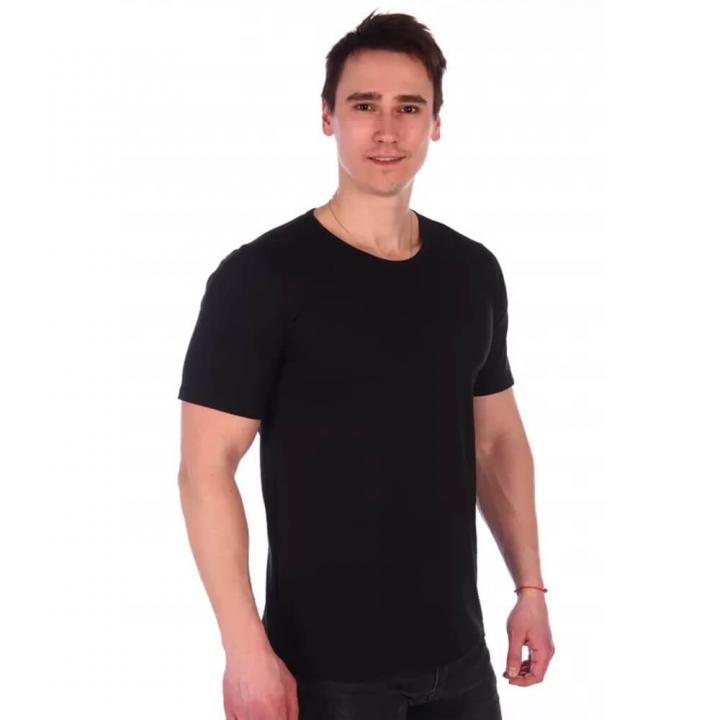Мужская классическая футболка черная