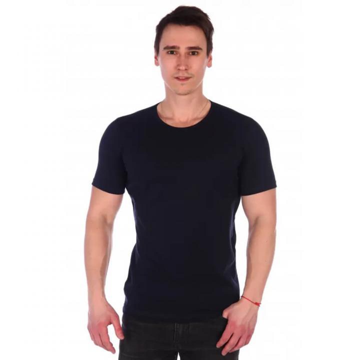 Мужская классическая футболка темно-синяя