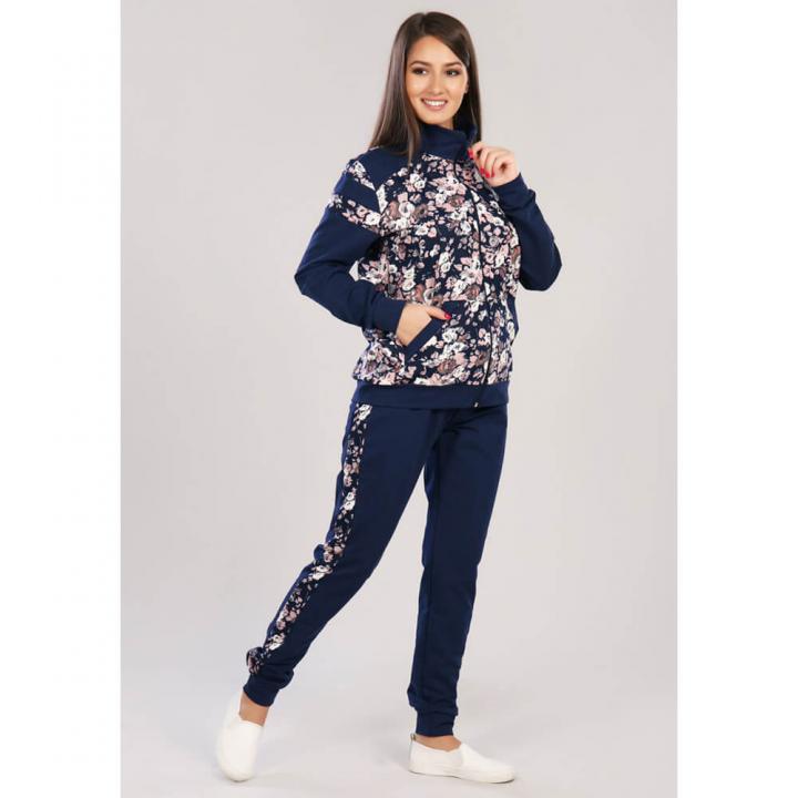 Женский спортивный костюм М-521-1 цветы