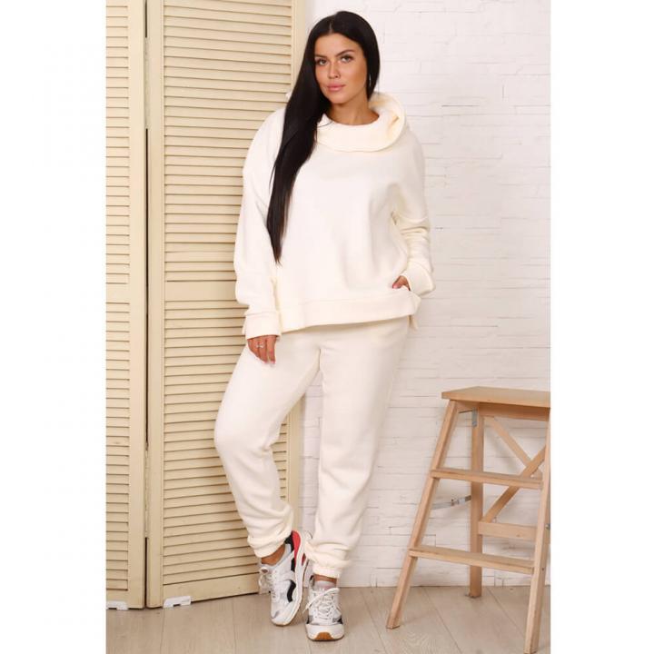 Женский спортивный костюм М-721 молочный