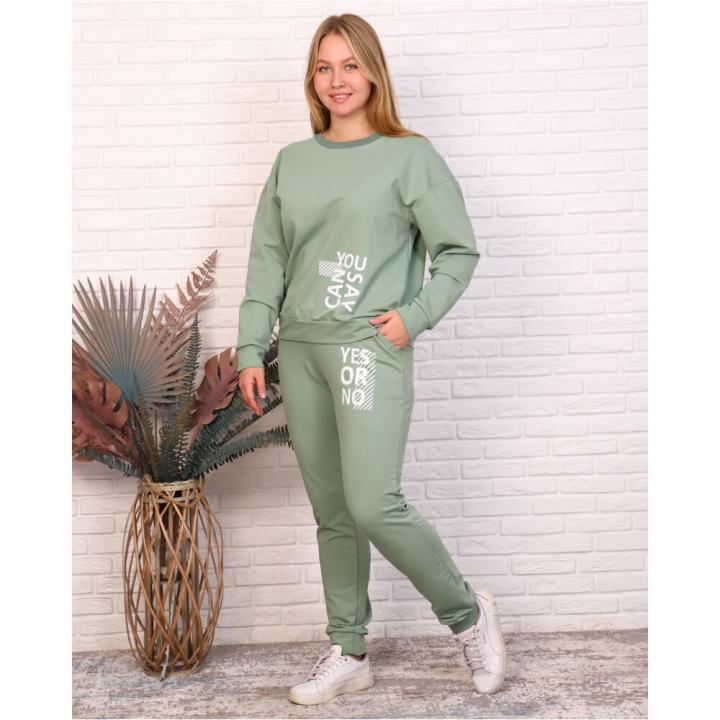 Женский спортивный костюм М-665 оливковый