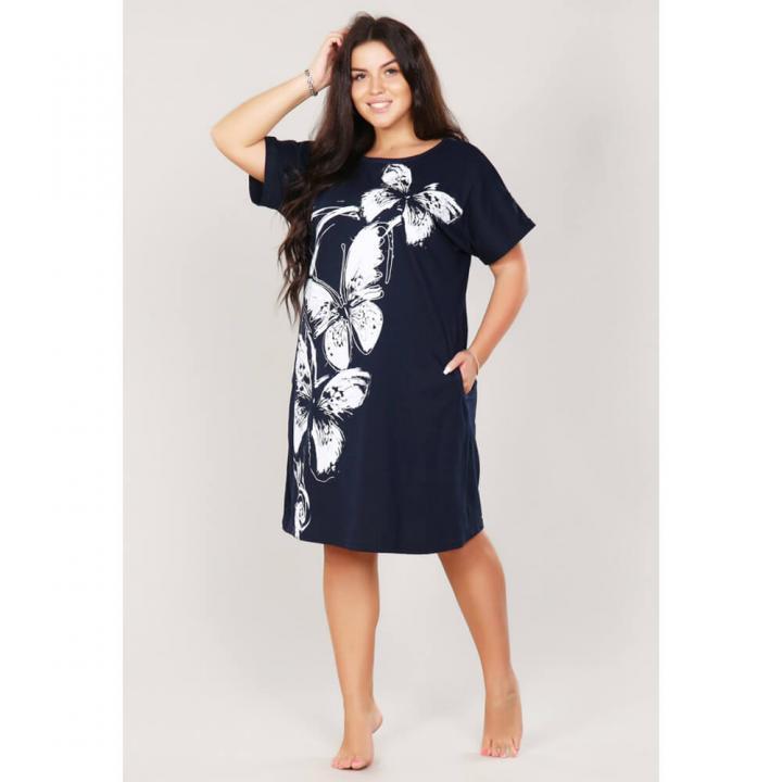 Женское платье М-645 темно-синее