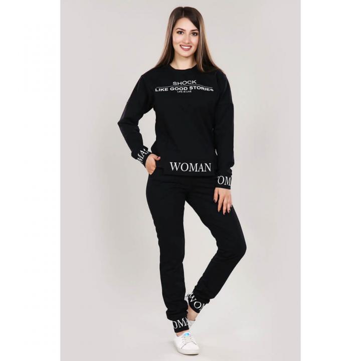 Женский спортивный костюм М-666 черный