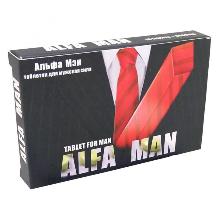 Мужские таблетки Alfa Man