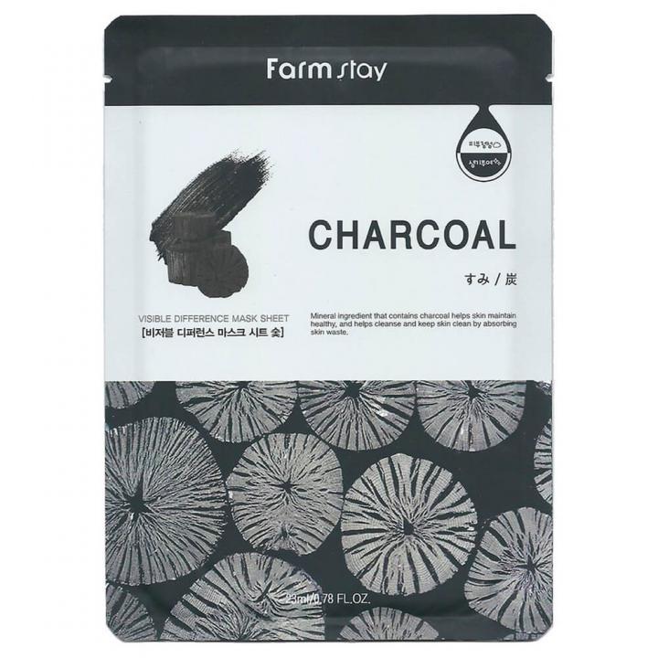 Тканевая маска с экстрактом угля от FarmStay