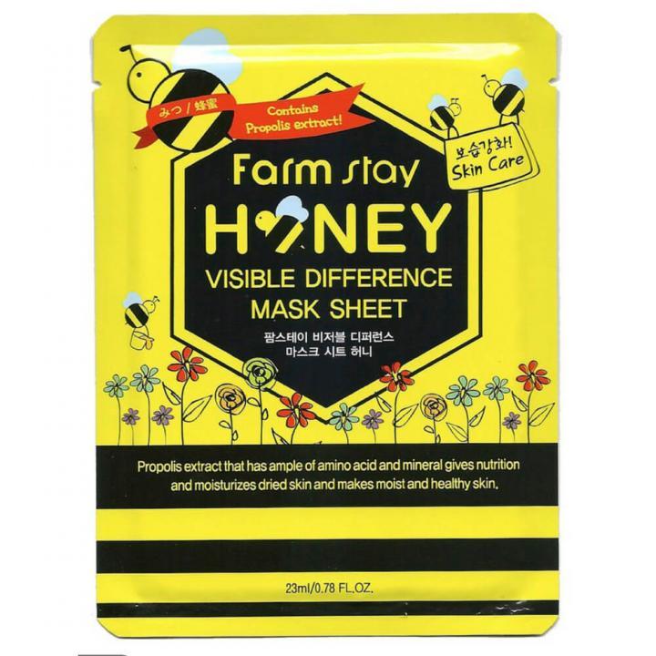 Тканевая маска с экстрактом прополиса и медом от FarmStay