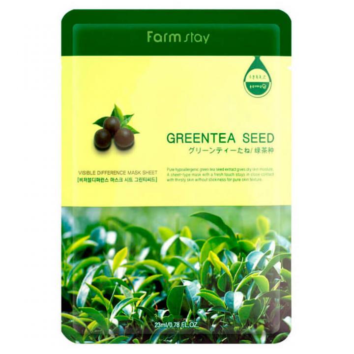 Тканевая маска с экстрактом зеленого чая от FarmStay