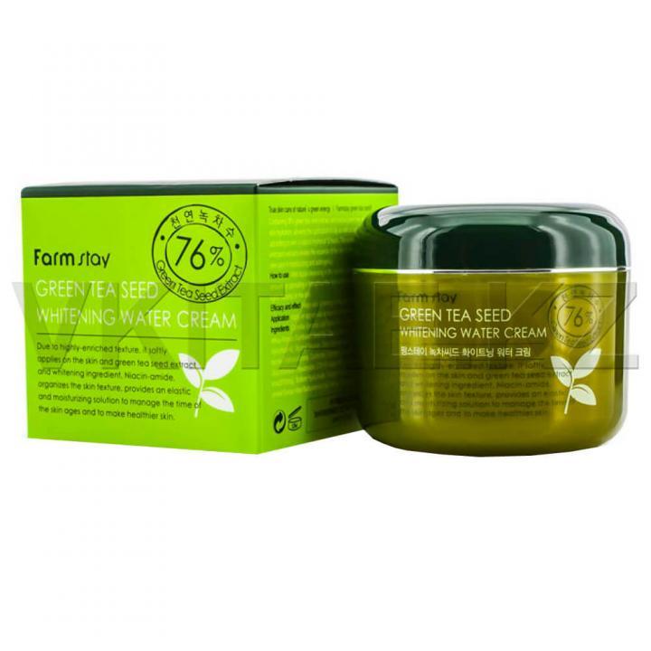 Осветляющий крем с семенами зеленого чая от FarmStay
