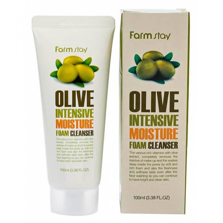 Увлажняющая пенка для умывания с оливой от FarmStay