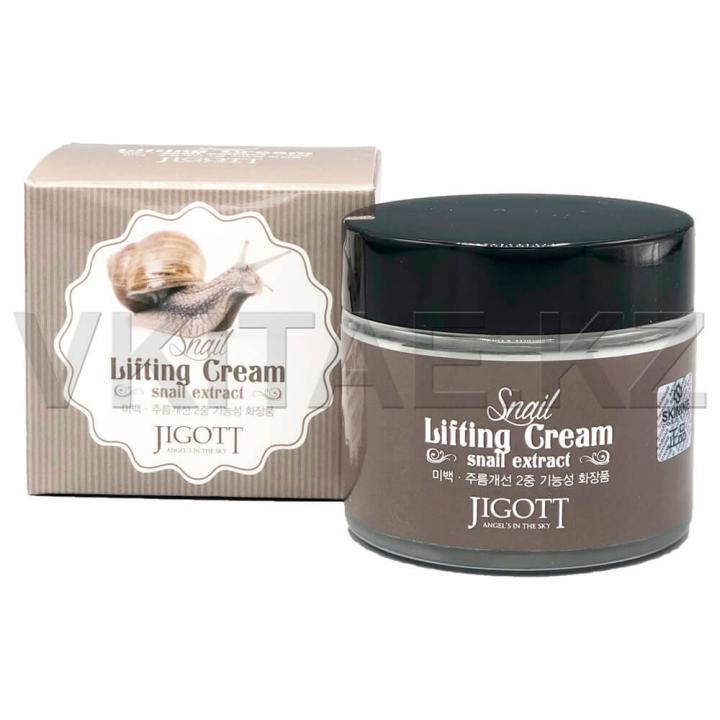 Подтягивающий крем с экстрактом слизи улитки от JIGOTT