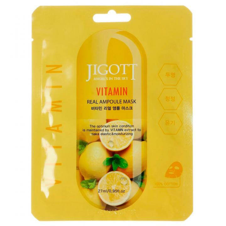 Тканевая ампульная маска с витаминами от JIGOTT