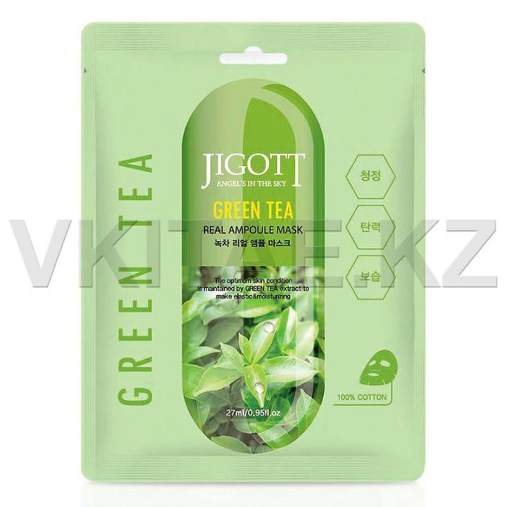 Тканевая маска с экстрактом зеленого чая от JIGOTT